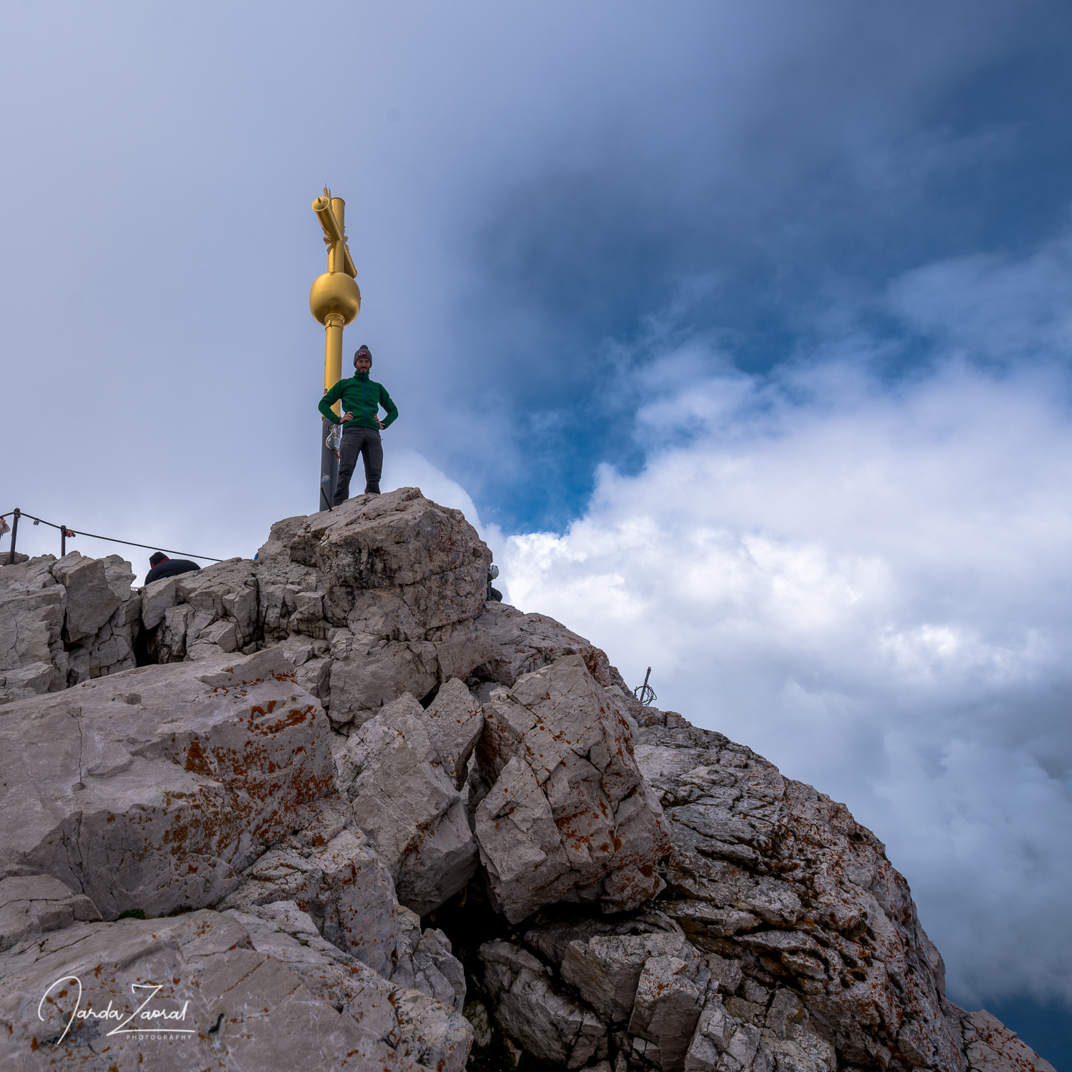 Valuable moment - noone on the top of Zugspitze