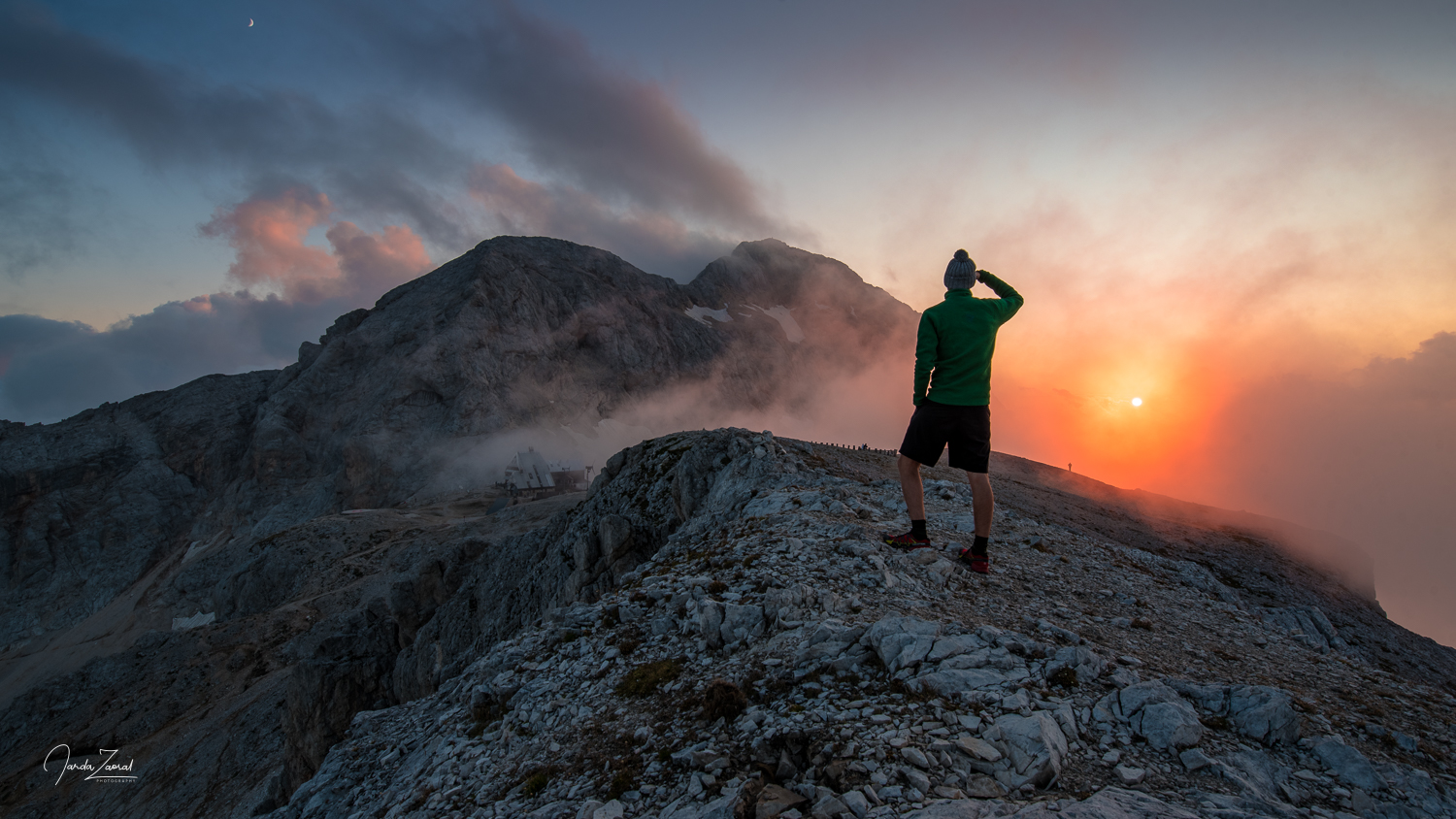 Epic view over Triglav during sunset