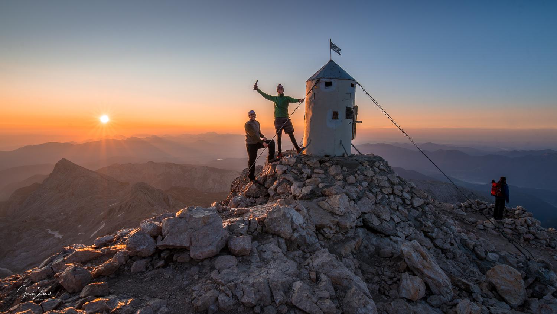 The top of Triglav during spectacular sunrise