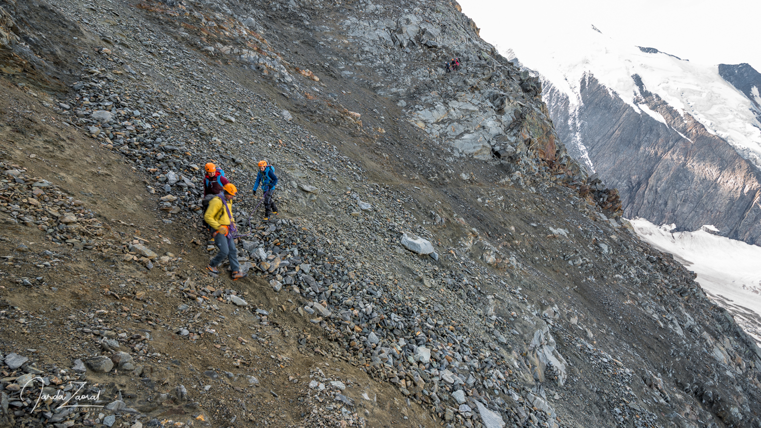 Grand Couloir (Mont Blanc) on the way to Gouter Hut