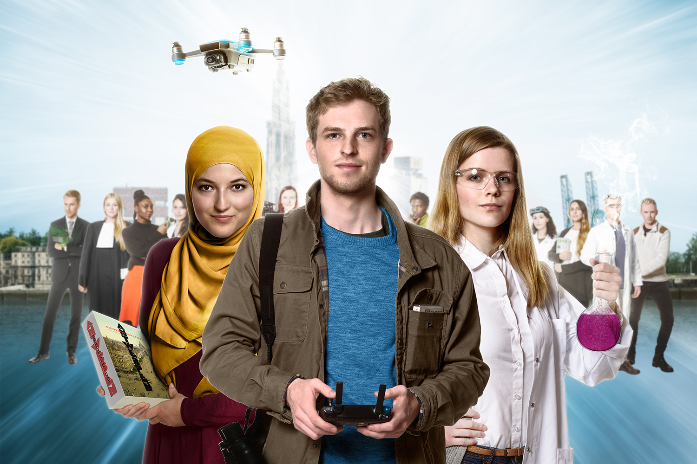 3 helden van de Universiteit Antwerpen: na beeldbewerking