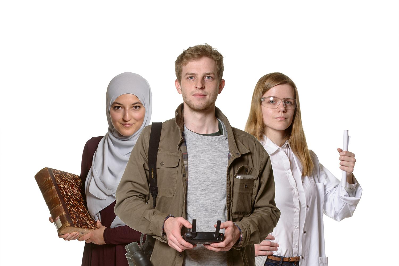 3 helden van de Universiteit Antwerpen: vóór beeldbewerking