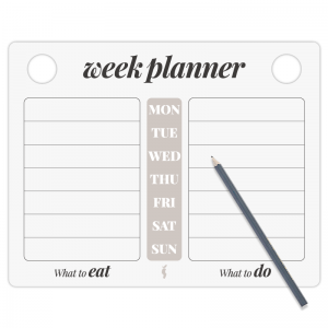 Weekplanner ark