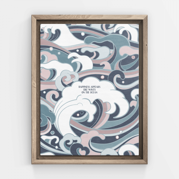 Happiness appears like waves