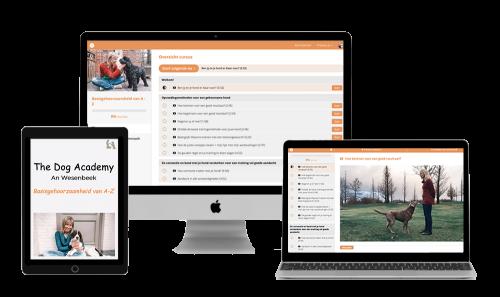 online cursus honden. basisgehoorzaamheid. The dog academy. An Wesenbeek