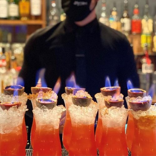 The Guild Chester Flames cocktail