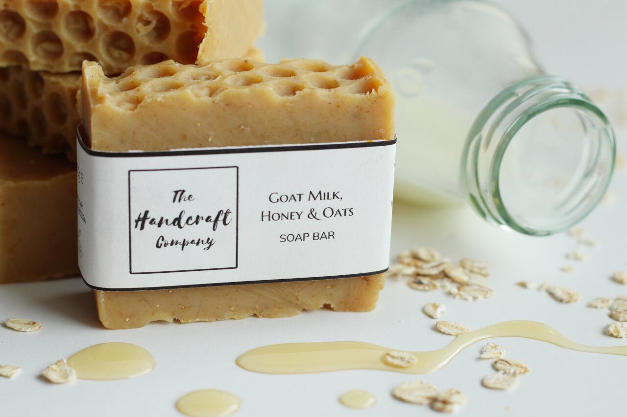 Goat Milk, Honey and Oats Soap 20g   The Handcraft Company