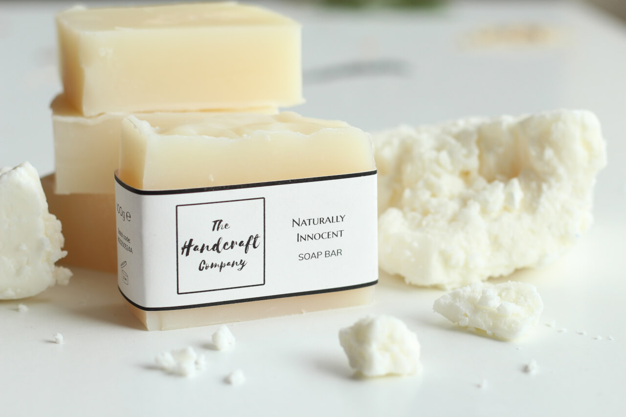Unscented non fragranced soap natural soap with shea butter blocks