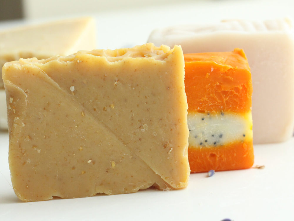 Handmade Natural soaps Just As Good Soaps aligned