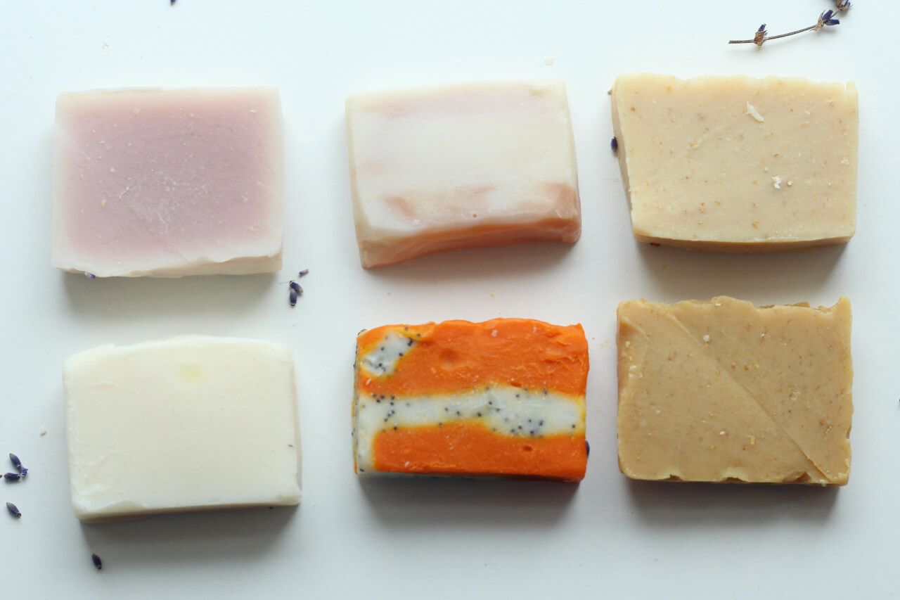 Just As Good Soaps on a flat lay Natural