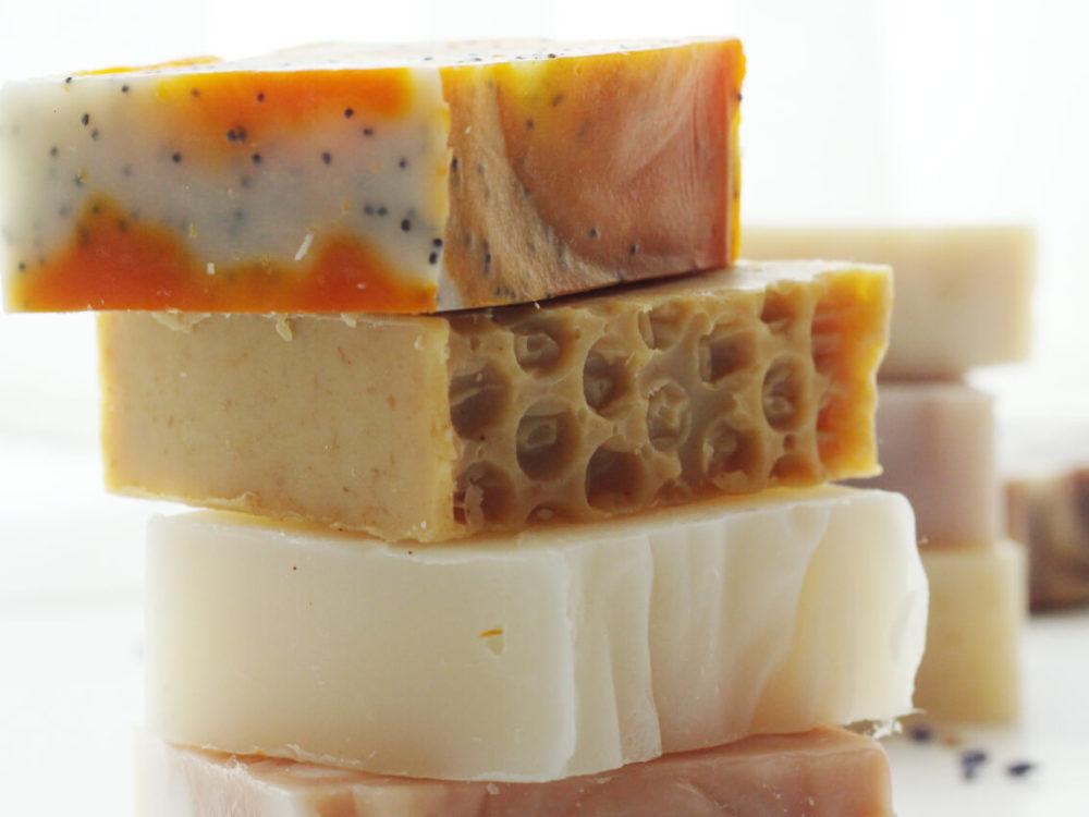 Handmade natural soaps under-cut soaps