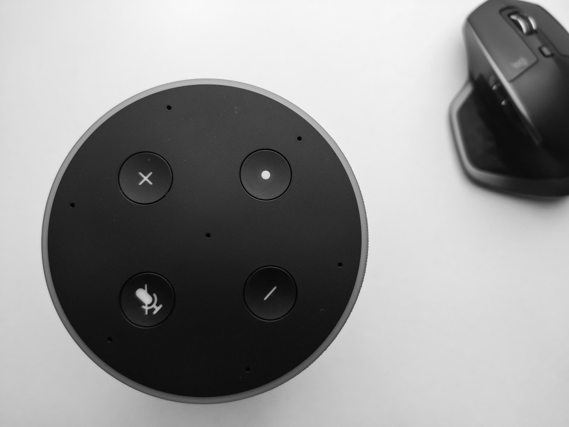 Amazon Echo Top and Logitech MX Master 2S - Captured Using A Smartphone