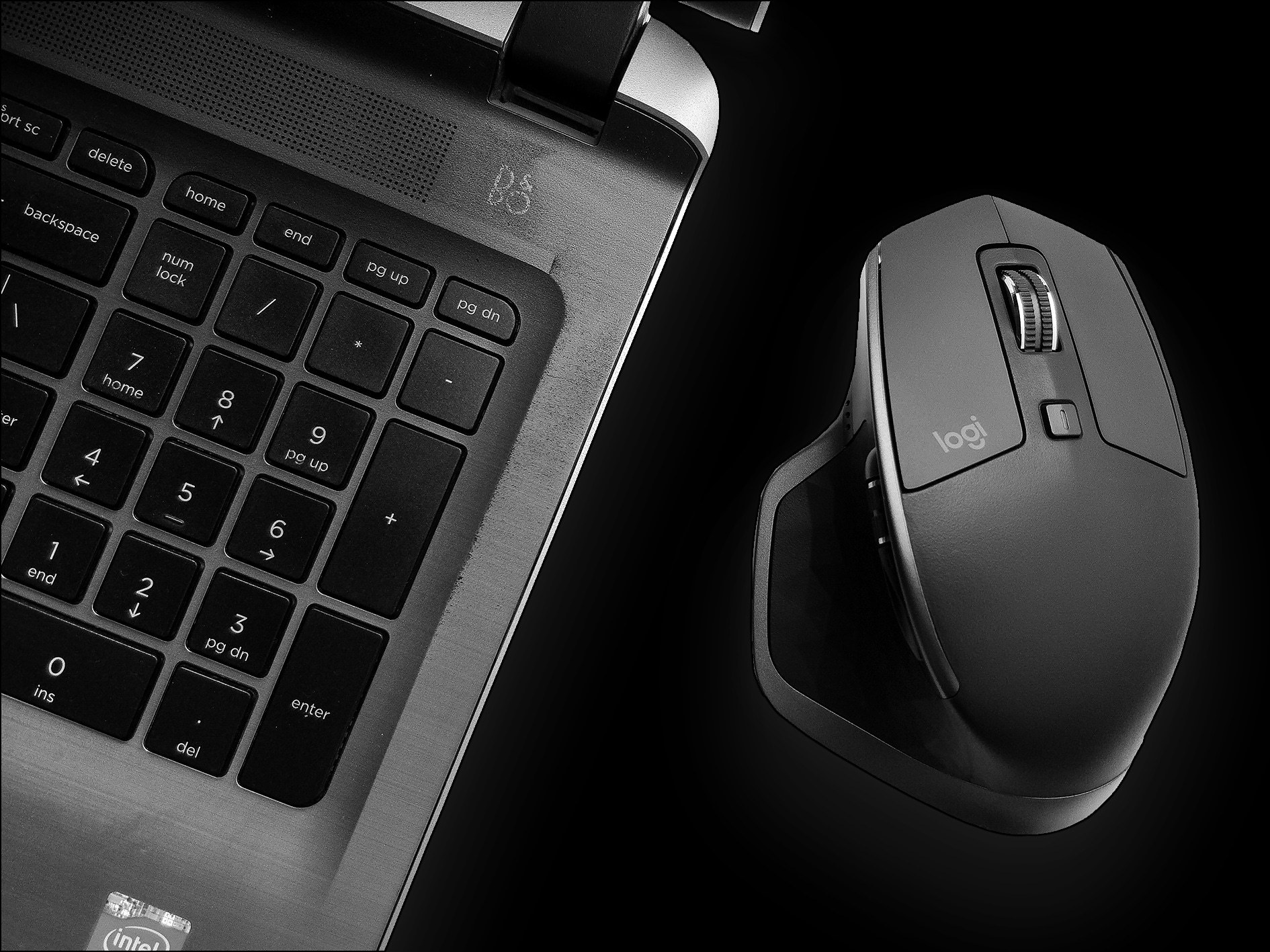 Dell Laptop and Logitech MX Master 2S - Captured Using A Smartphone