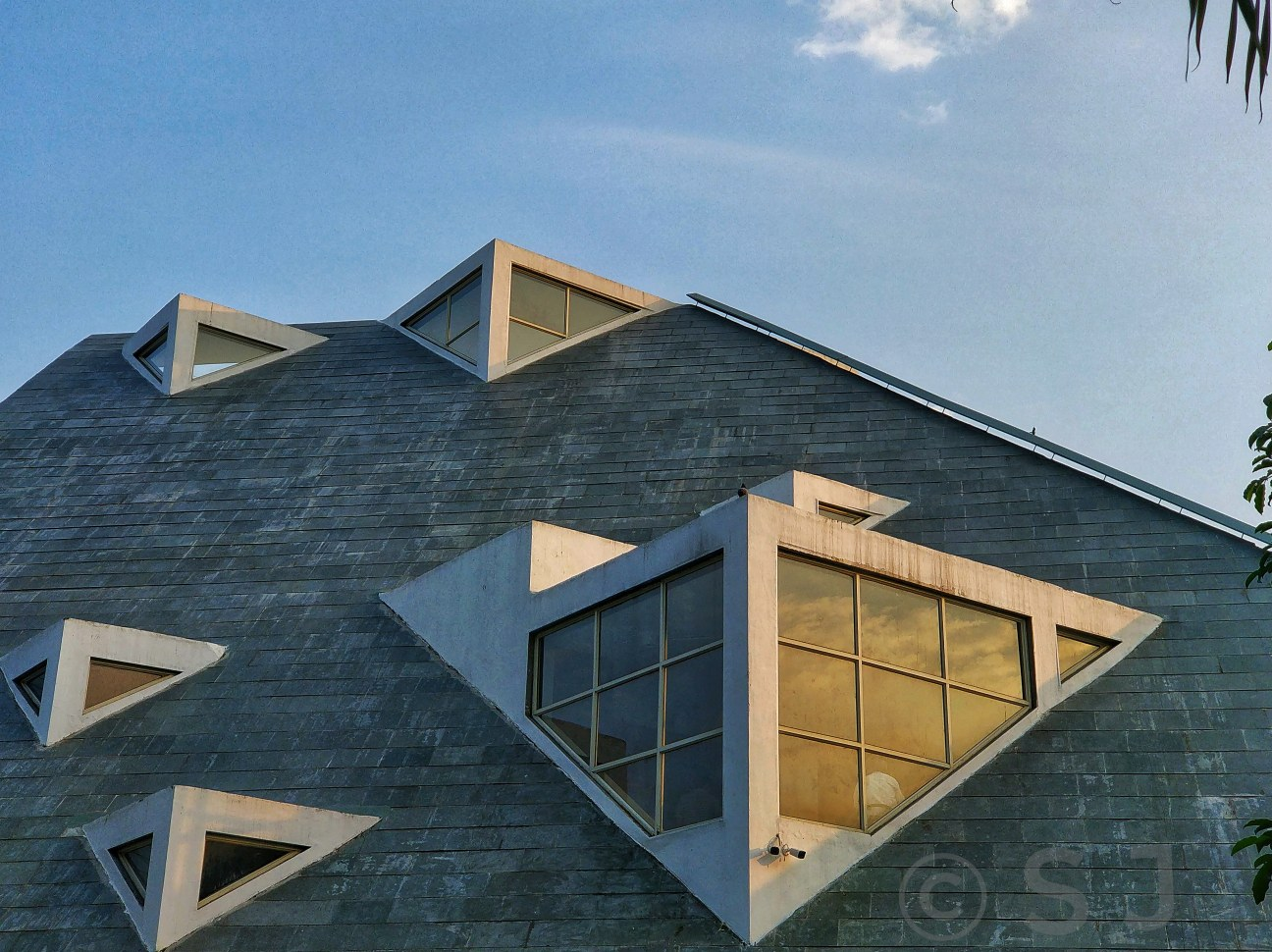 An Auditorium, which looks cool as an architectural place - Captured Using A Smartphone