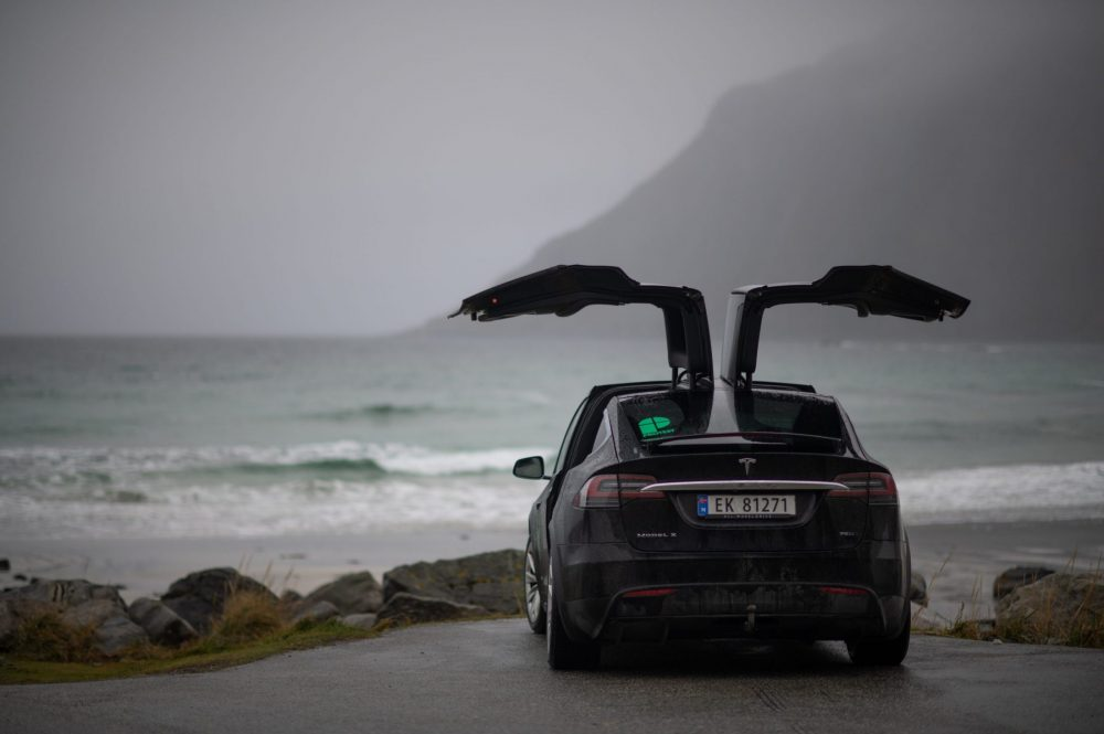 Perfect umbrella's during the Moody days in the Lofoten, Norway.
