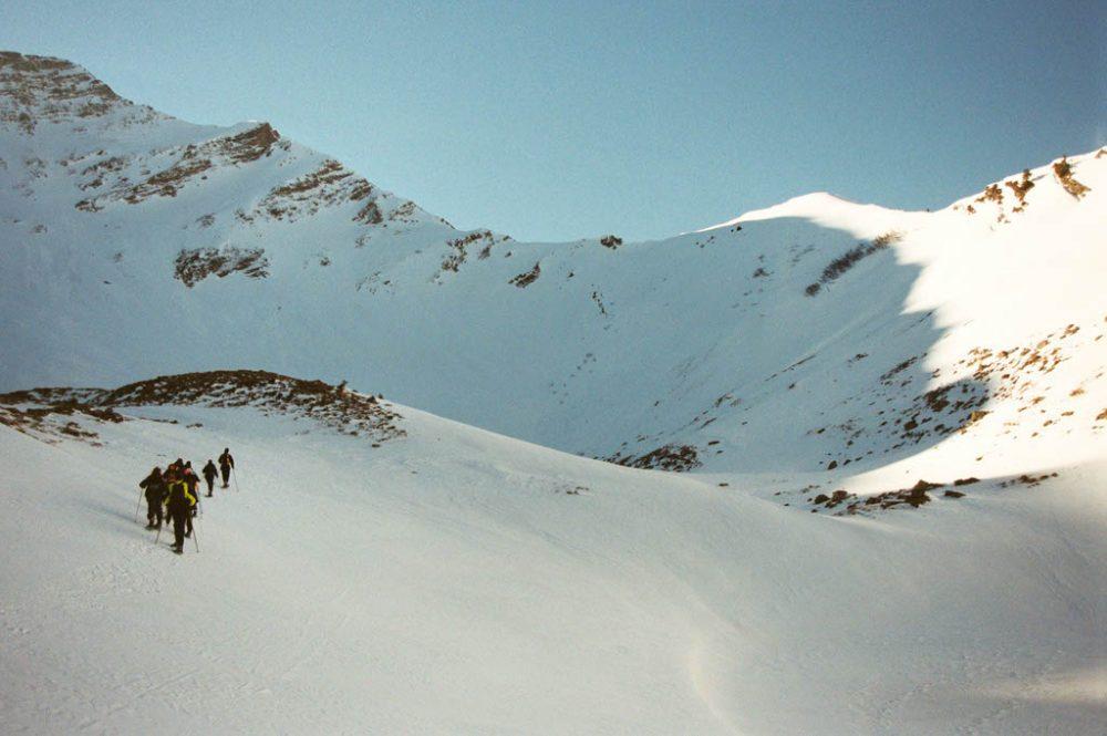 Snow shoes, Les Pléiades, Februari 2002