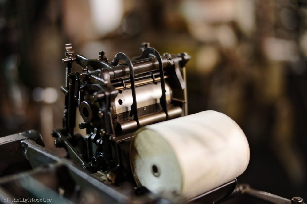 Old printing presses, June 2018