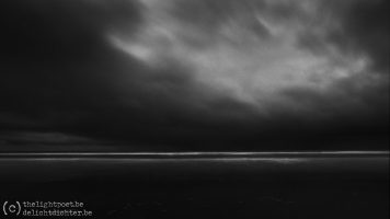 The Sea, in black and white, January 2021