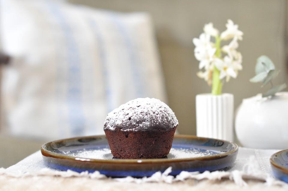 Chokolademuffin med rodbeder