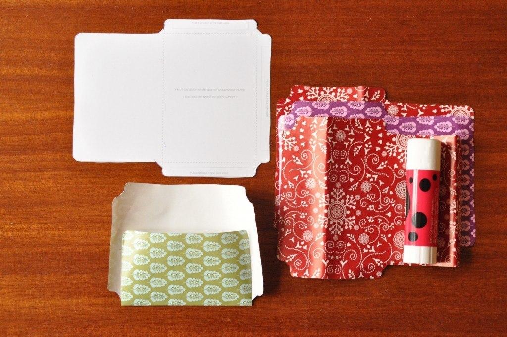 DIY frøposer af gavepapir