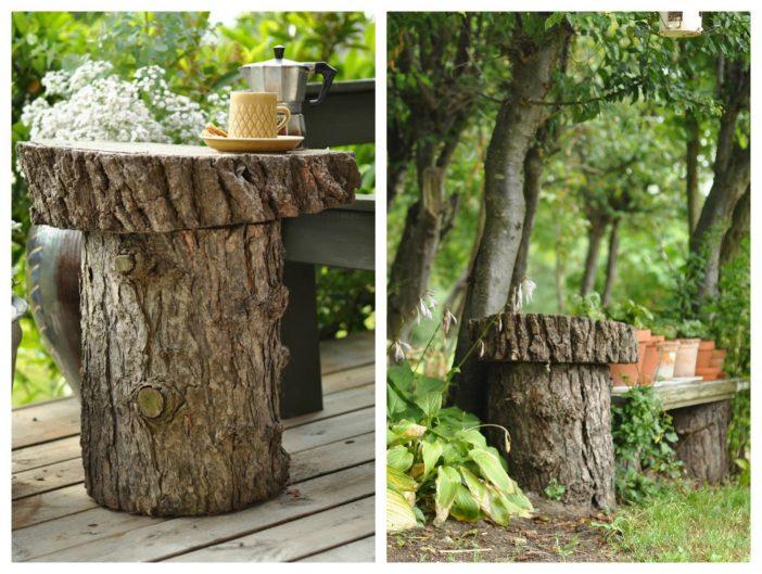Bord af træstamme