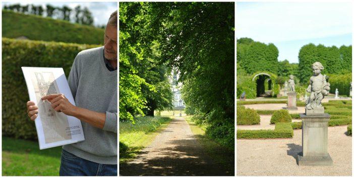 Collage med billeder fra Frederiksborg Slotspark, Bregnetved og Barokhaven ved Gl.Holtegaard