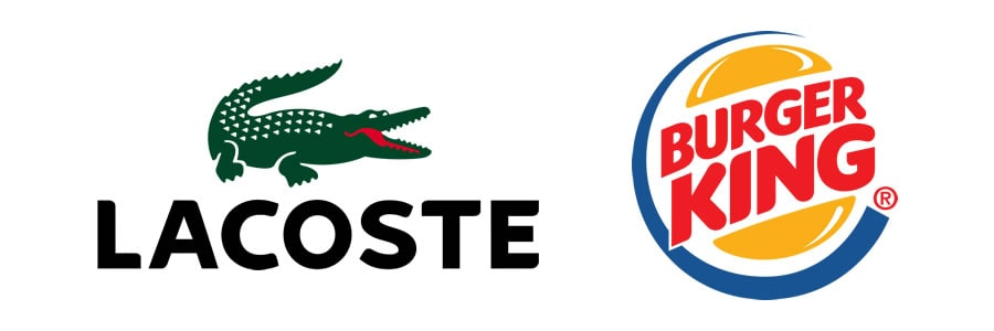 What are the different types of logos - Combination Mark - lacoste logo - Burger King Logo-min