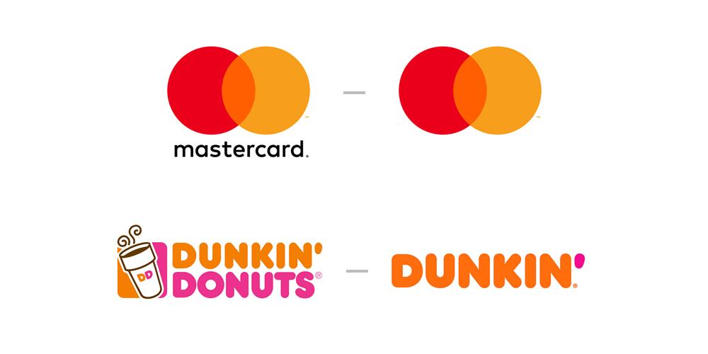 master card - Dunkin Donuts Logo Design Simplified - Simplicity in Logo Design - The Logo Community