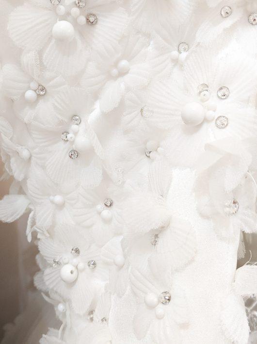 mesh floral corsage details