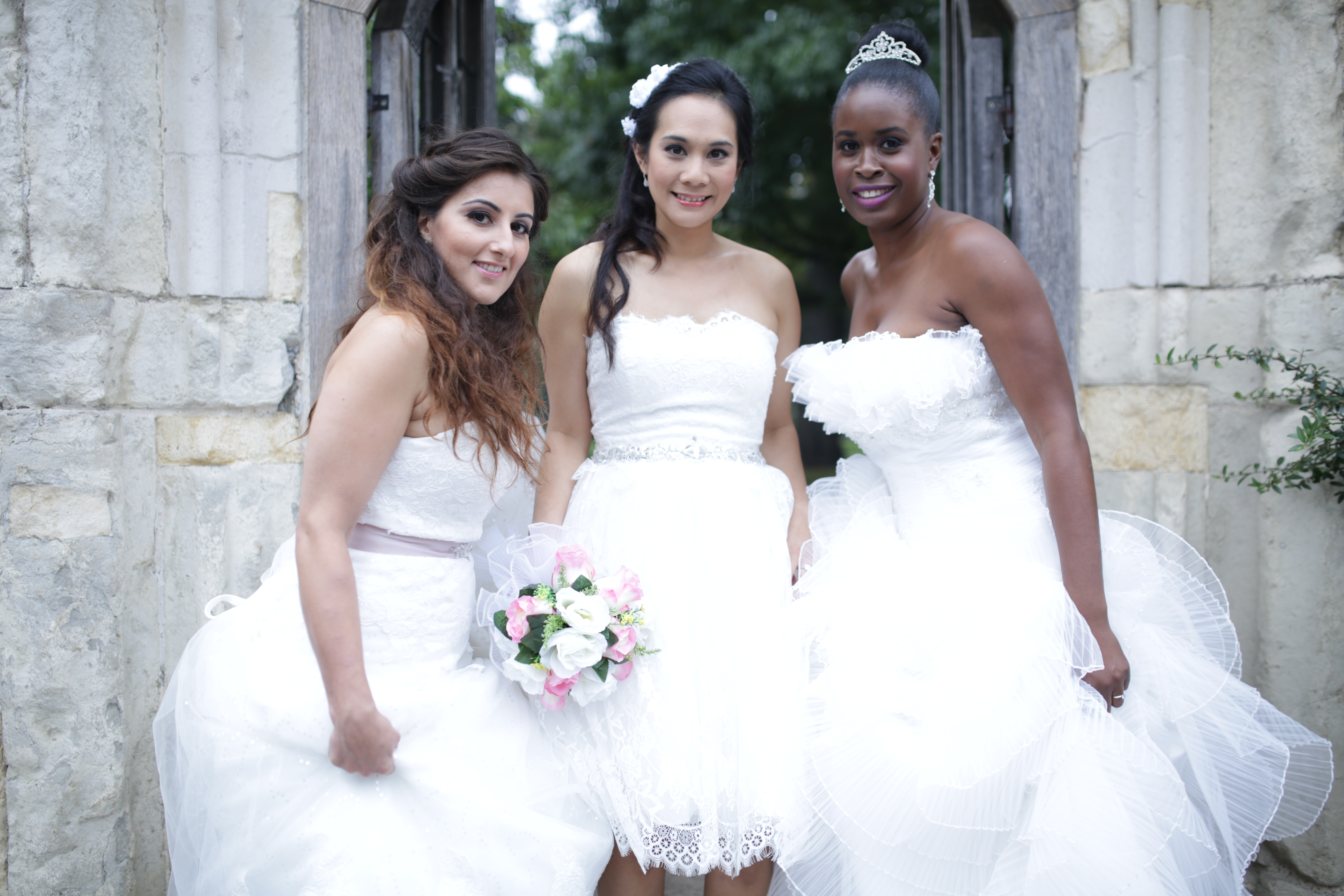 Photo of women and dresses from The london bridal boutique wedding dresses in south london croydon. Dresses for beautiful brides, gorgeous bridesmaids, cheap wedding dresses, budget wedding dresses, well priced
