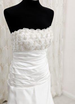 A-line wedding dress with beaded bst line - croydon bridal shop - wedding dress shop in london