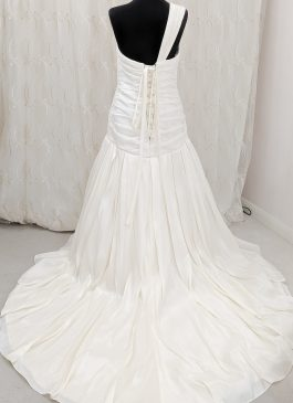 Pleated wedding dress - embellished weddig dress - Croydon bridal shop - London brides