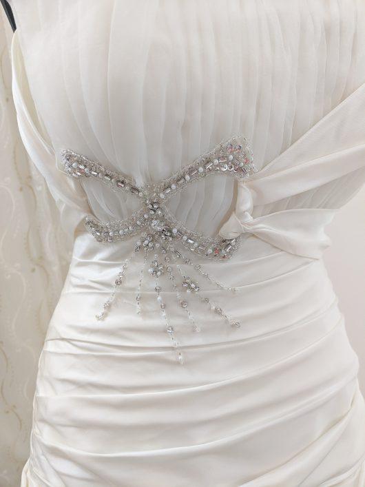 Ball gown wedding dress with pleats and tucks - South London Bridal shop - Wedding dress sho Croydon