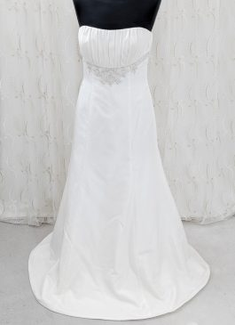 Column dress with embelisshed waitband - croydon bridal sho - wedding dresss in south london