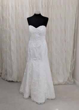 Sweetheart mermaid lace white wedding dress - the london bridal boutique - croyon bridal shop