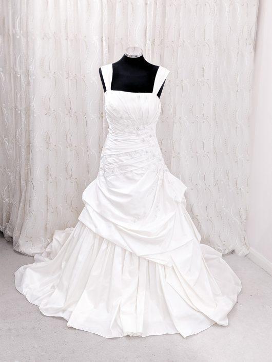 Pleated ball gown wedding dress - voluminous dress - Croydon bridal shop - wedding dresses south london