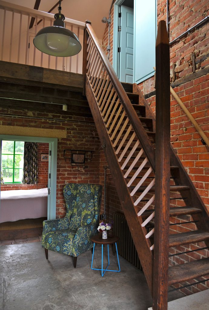 Lobby area and stairs to attic dorm