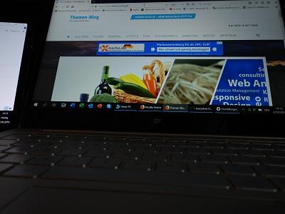 Themen Blog Dual Monitor mit Tablet