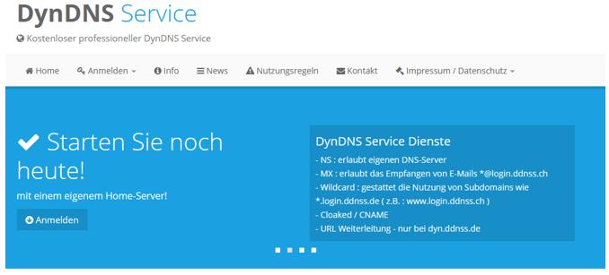 DynDNS damit die Nextcloud von außen über das Internet erreichbar ist