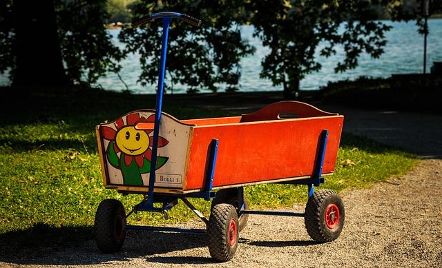 Klappbollerwagen - Bollerwagen faltbar mit Dach