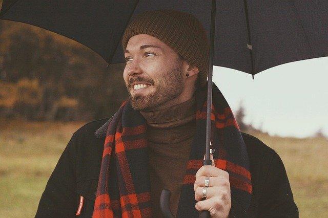 Regenschirm mit Beleuchtung