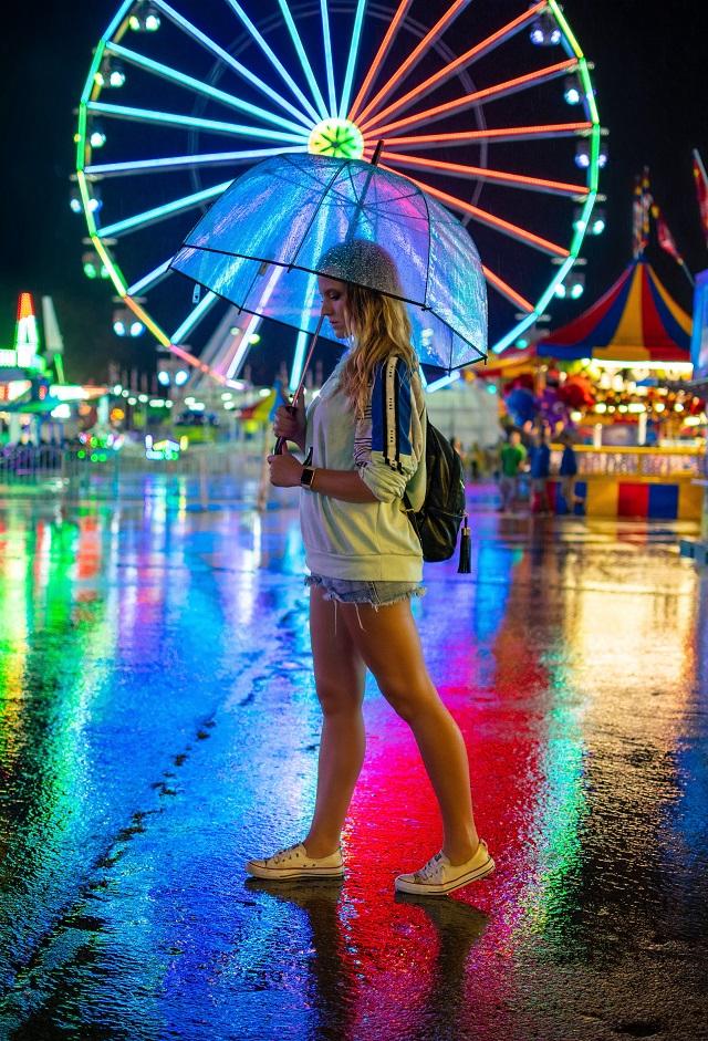Regenschirm mit Licht