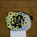 crochet soft sculpure yarn textile art eyeballs ball night stars eyes
