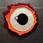 Nenet Vlachaki, Bird Eye No 2, 2017, crochet textile art