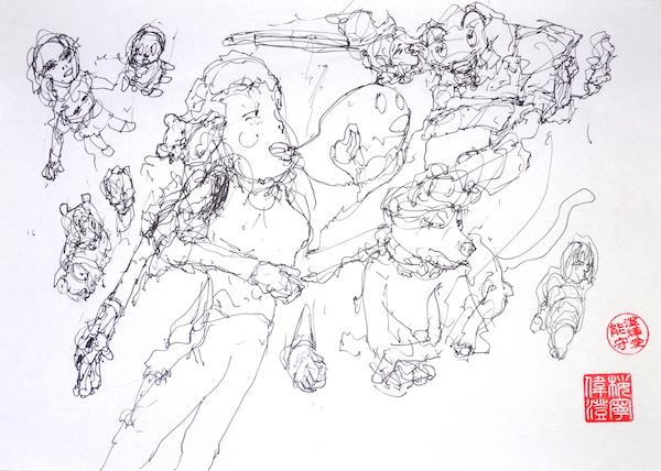 Odys S. Stylianos, Ink 0002, 21.0 x 29.7 cm