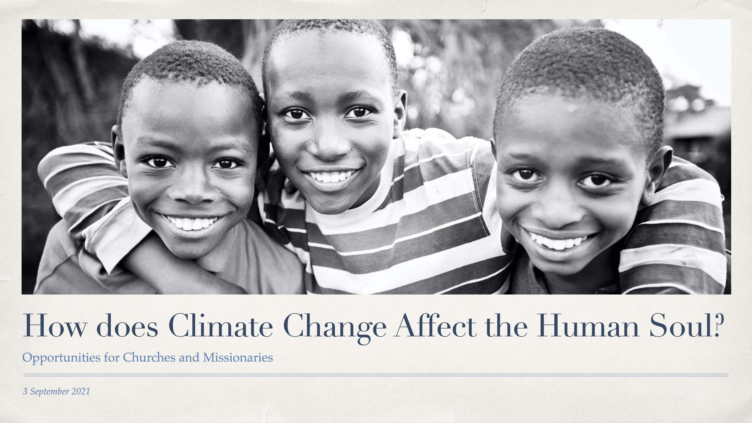 How does Climate Change Affect the Human Soul?