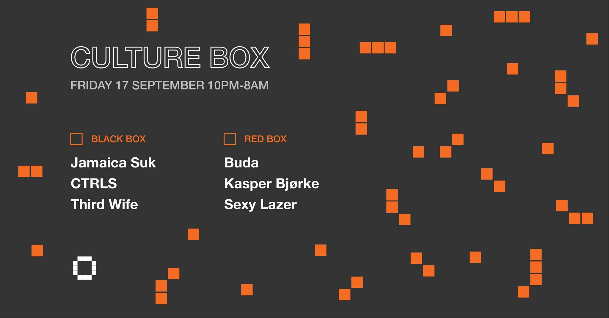 Culture Box Friday 17.09.2021
