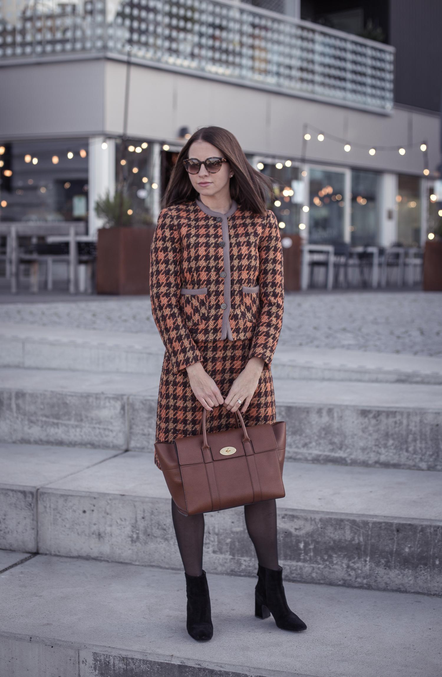 Dräktjacka med matchande kjol