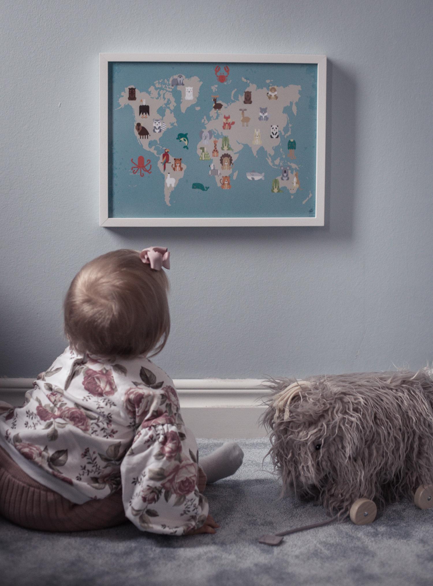 Barnposter världskarta