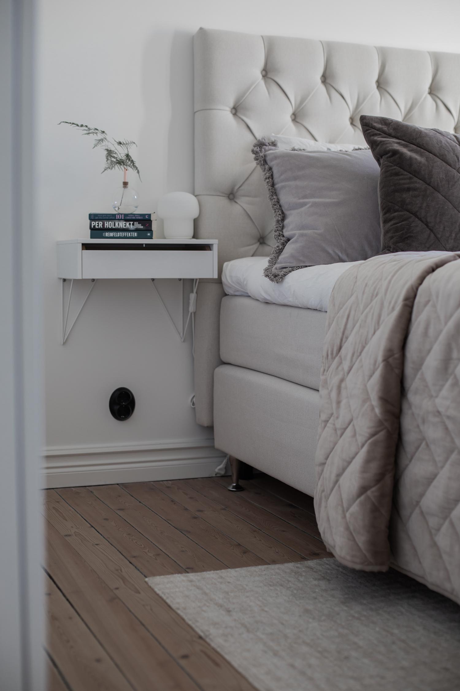 Vägghängda sängbord